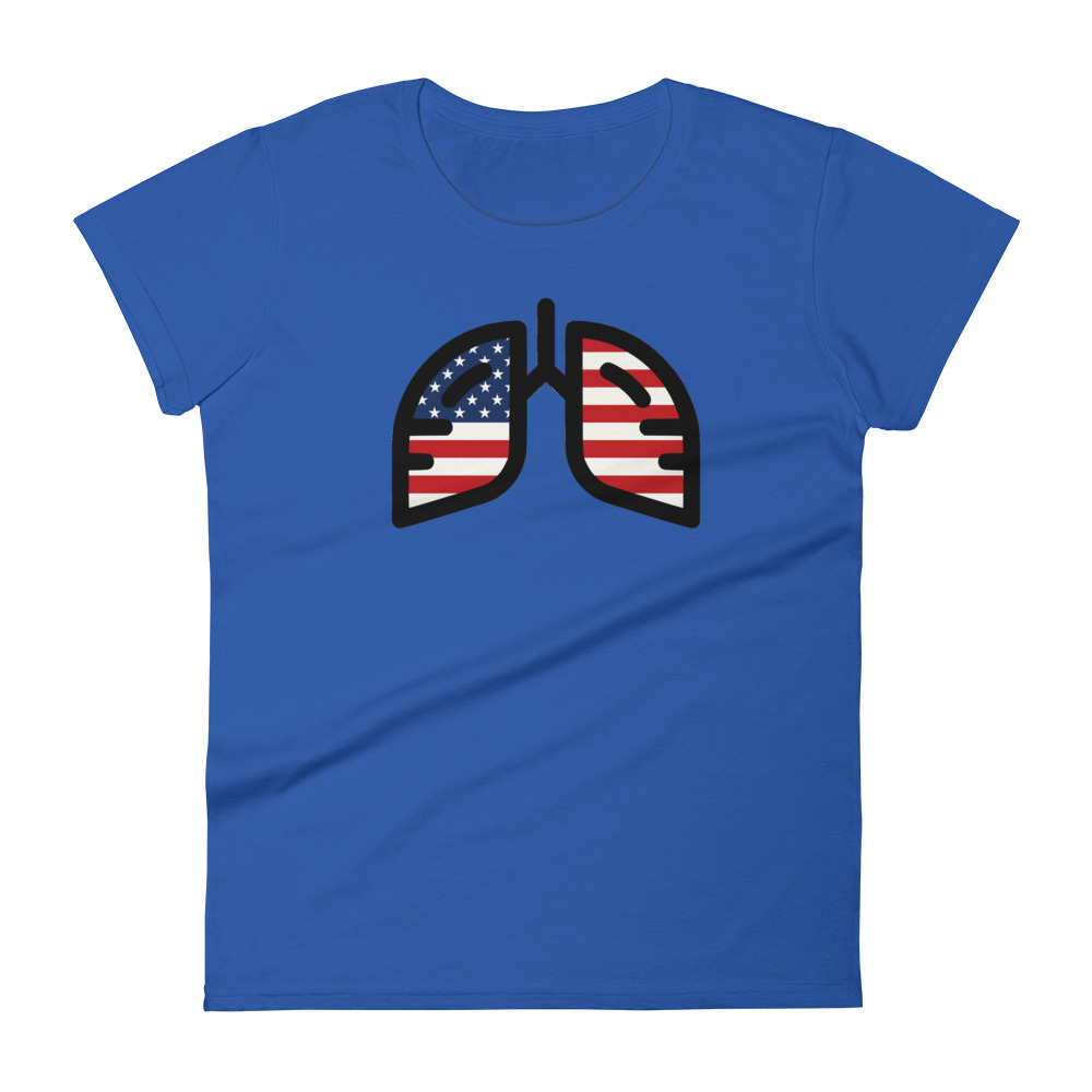 Ladies Breathing USA T-Shirt
