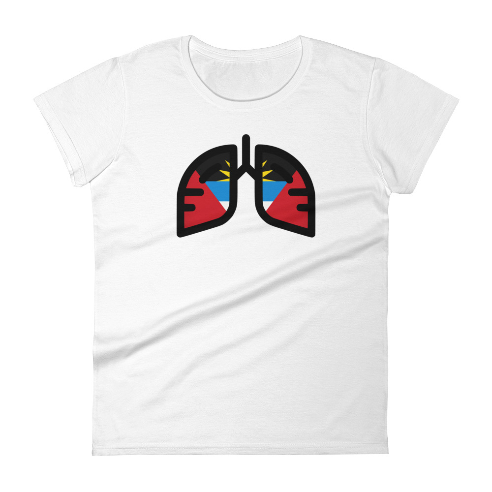Ladies Breathing Antigua & Barbuda T-Shirt