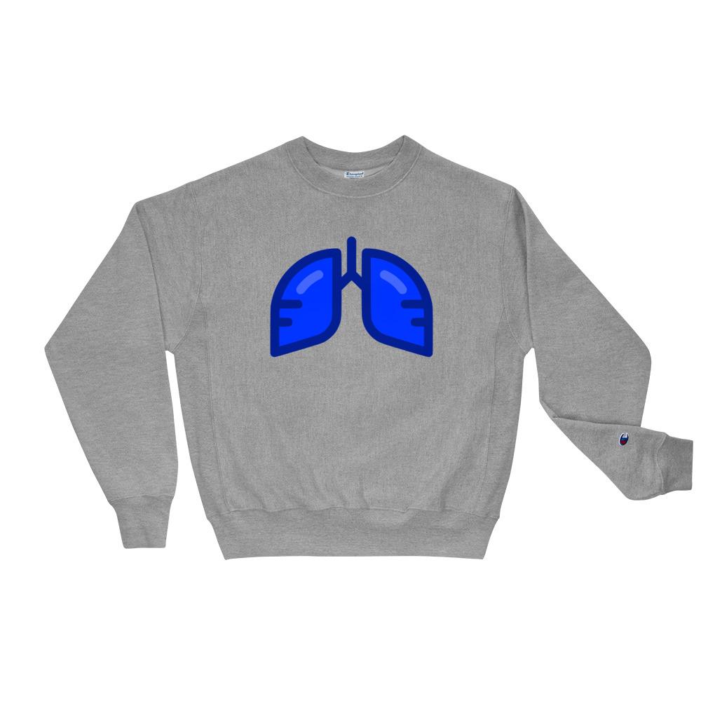 BB Neon Blue Champion Sweatshirt