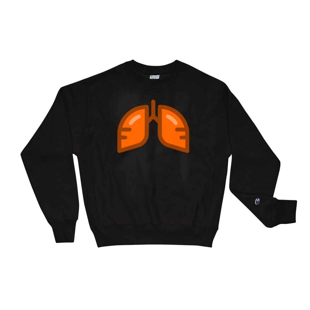 BB Neon Orange Champion Sweatshirt