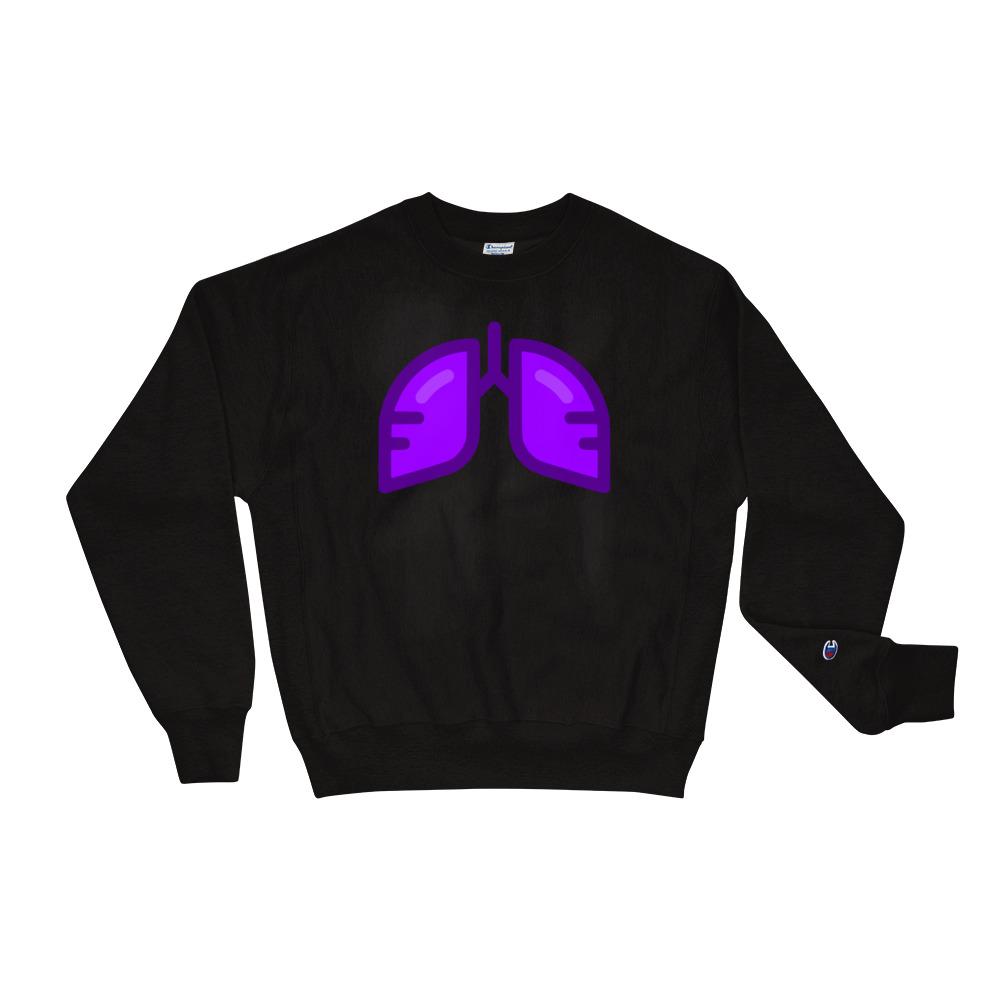 BB Neon Purple Champion Sweatshirt
