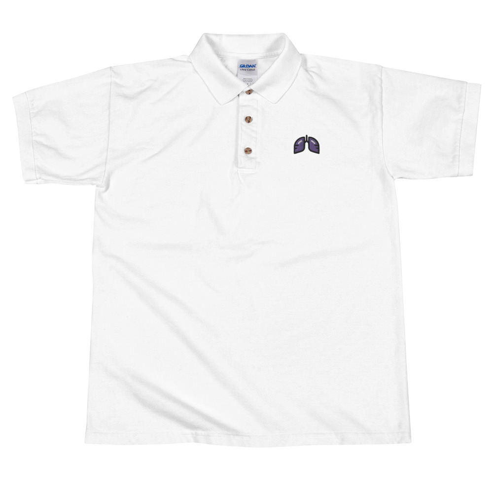 Purple Icon Embroidered Polo Shirt