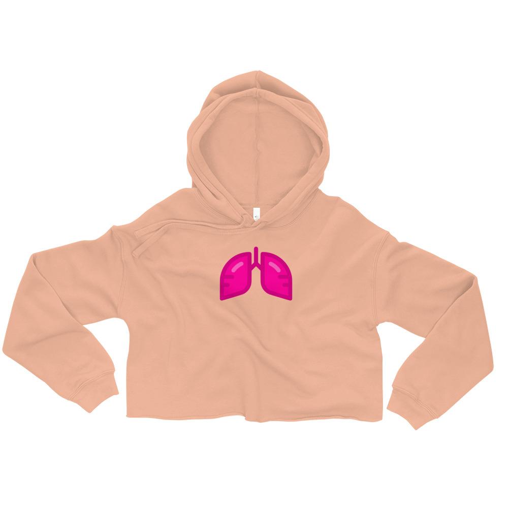 Neon Pink Icon Crop Hoodie