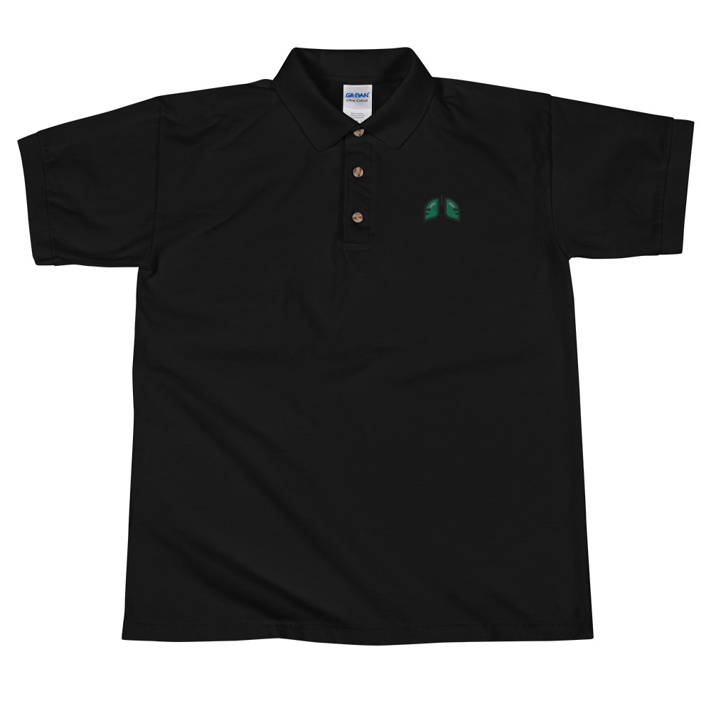 Green Icon Embroidered Polo Shirt