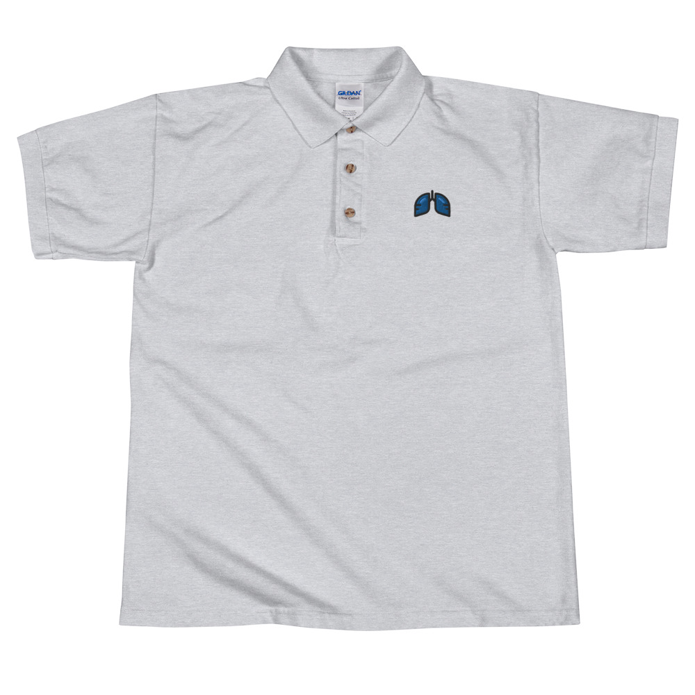 Blue Icon Embroidered Polo Shirt