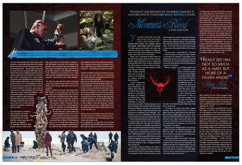 Editorial design, Magazine, Layout, Hannibal, Rue Morgue Magazine, Horror, Graphic Design