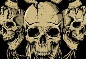 Metal Hammer, Paradise Festival, Tshirt design, Illustration, Toronto, Skulls, Beard, Axe, Graphic Design, Heavy Metal
