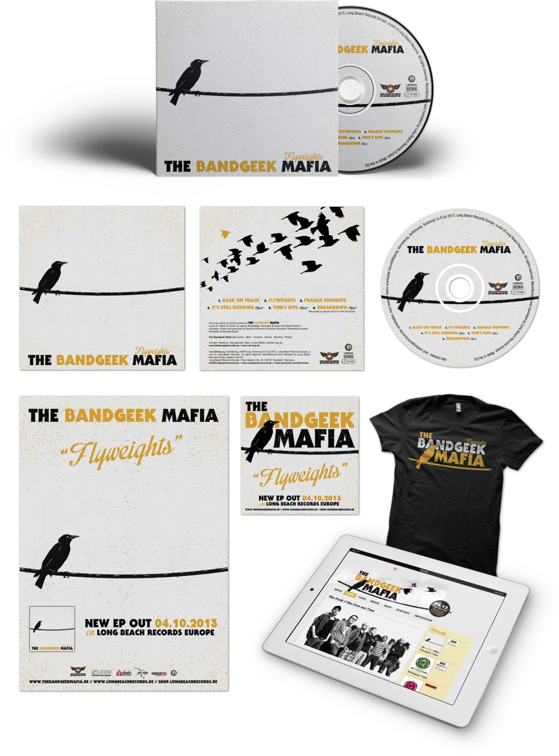 The Bandgeek Mafia, Album Artwork, CD Packaging, Graphic Design, Punk Rock, Ska, Germany, Long Beach Records, Illustration, Toronto, Art, Music, Packaging