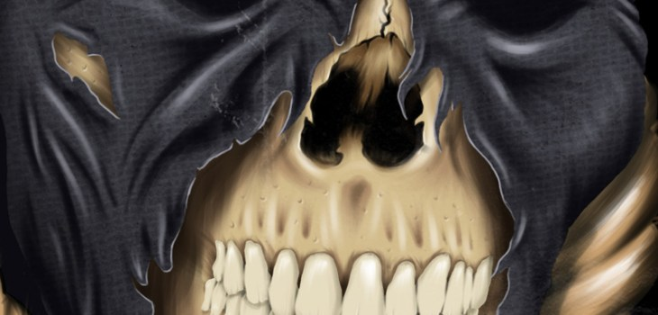 Halloween, Party, Poster, Illustration, Rue Morgue Magazine, Hangman's Ball, Skull, Death, Grim Reaper, Noose