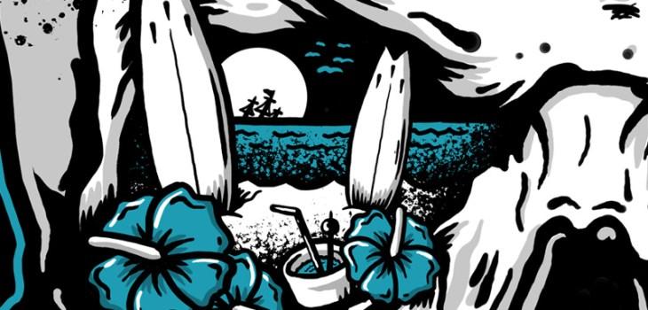 Choices Made, Punk, Hardcore, Toronto, Canada, Illustration, Skull, Beach, Death, Coffin, Art, Album Cover, Music, Band, Surf, Shipwreck, Don't Settle For Them, Punk Rock, Illustrator, Toronto, Graphic Designer, Breath Of Fresh Air Design,