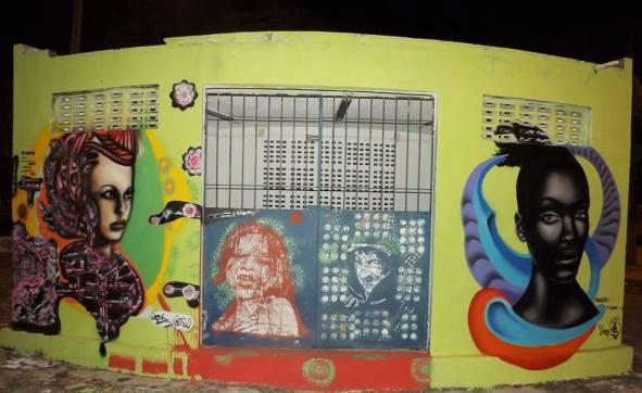 Um dos grafites feitos por Pedro Ivo (Foto: Facebook)