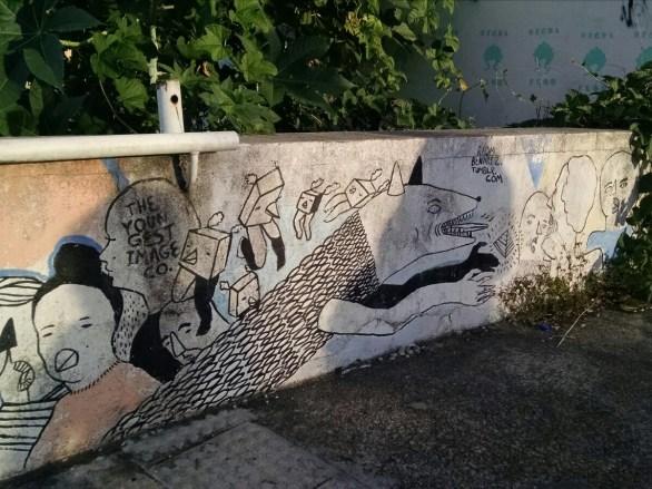 Grafites nas paredes do Presépio