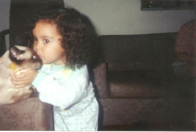 Eu, com três anos, e Mococa (Foto: Arquivo)