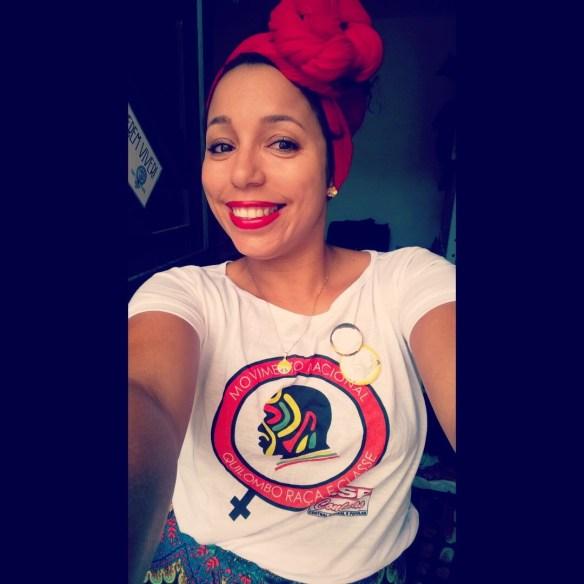 Adonyara Azevedo, integrante do Quilombo Raça e Classe