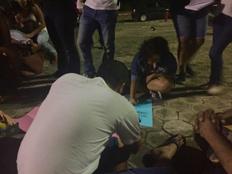 Estudantes realizam campanha contra o machismo na universidade