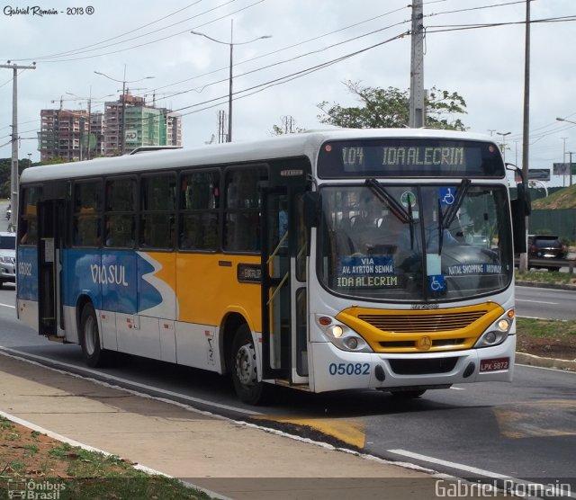Foi um ônibus dessa linha que causou o acidente (Foto: Ônibus Brasil)
