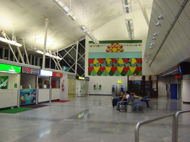 Painel no Aeroporto Augusto Severo