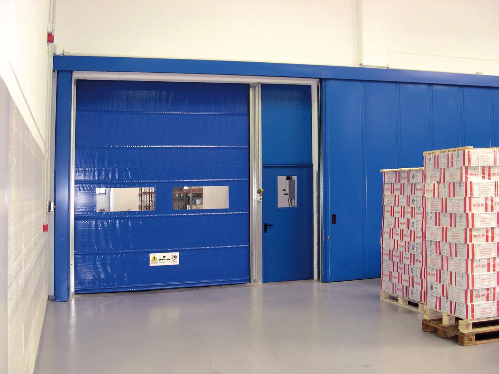 Porta rapida ad avvolgimento SAETTA - Blu RAL 5002