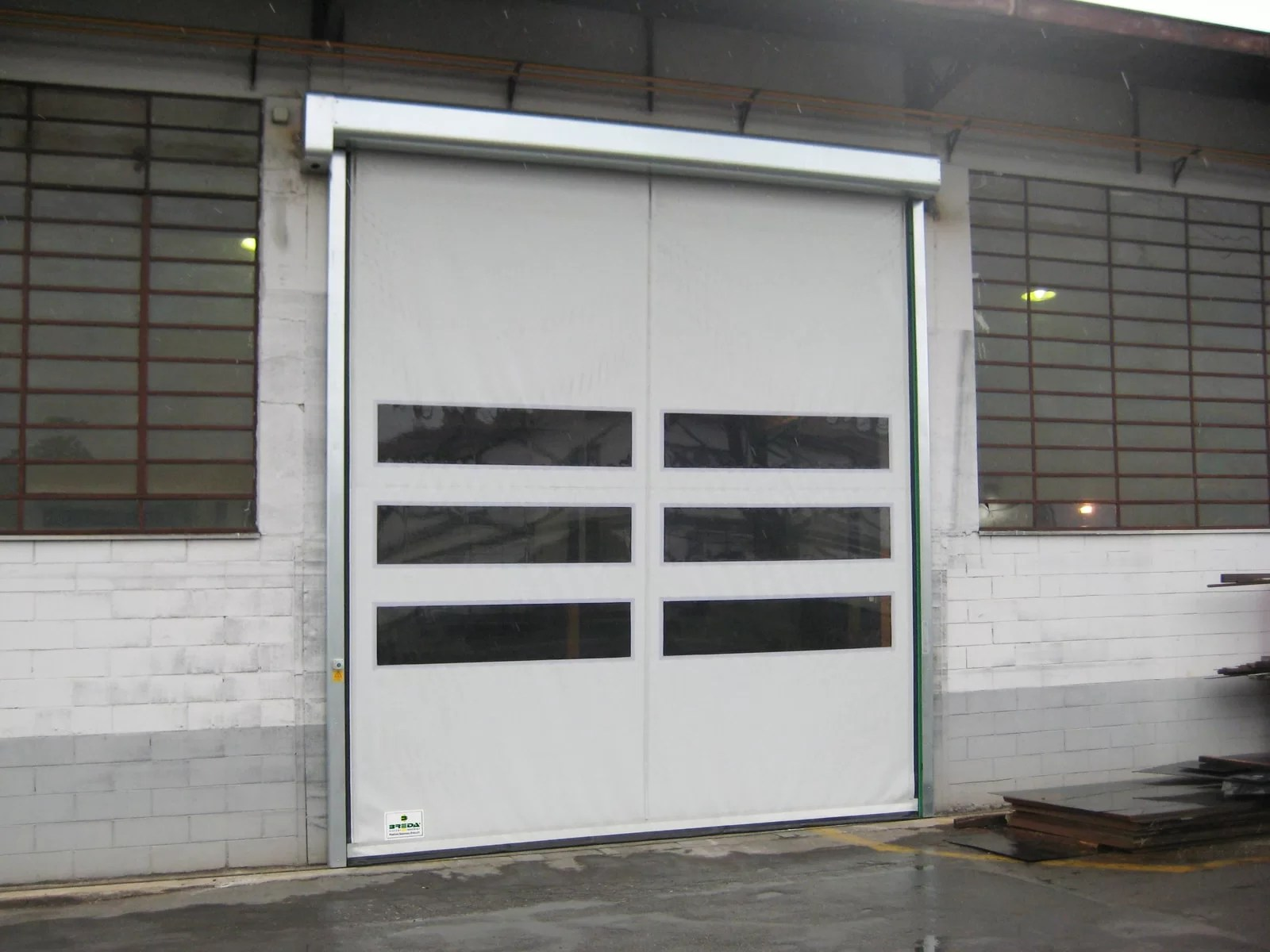 Porta rapida autoriparante ad avvolgimento LAMPO - Bianco RAL 9010