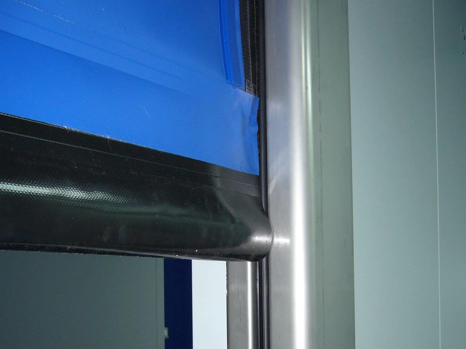 Porta rapida autoriparante ad avvolgimento LAMPO - Blu RAL 5002