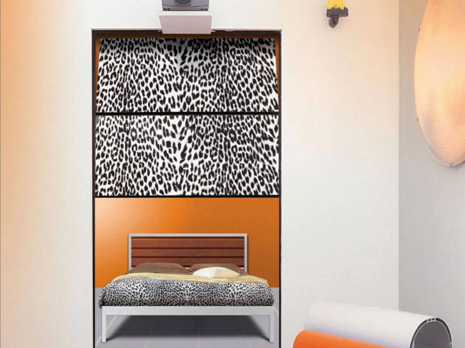Portone di design Le Perle TEXTILE JEWELS - Tessuto leopardato nero