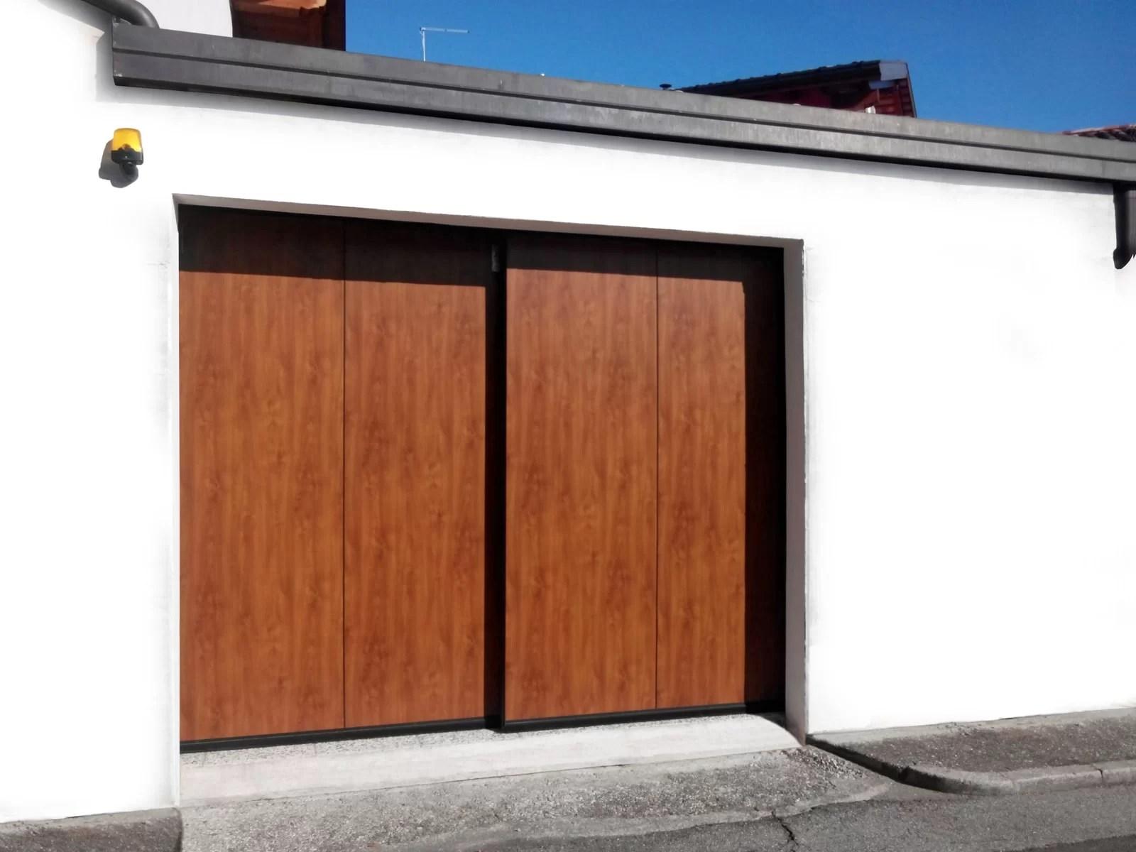 Portone scorrevole industriale ATLANTE - Simil legno