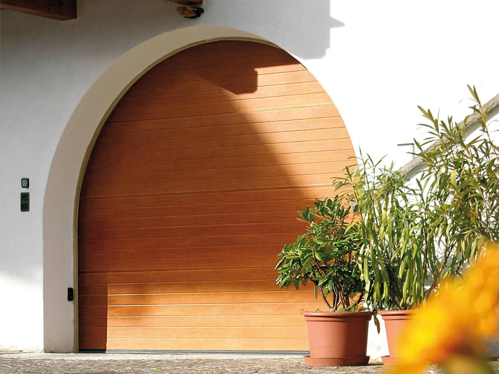 Portone sezionale in legno-alluminio PEGASO - Disegno Gara