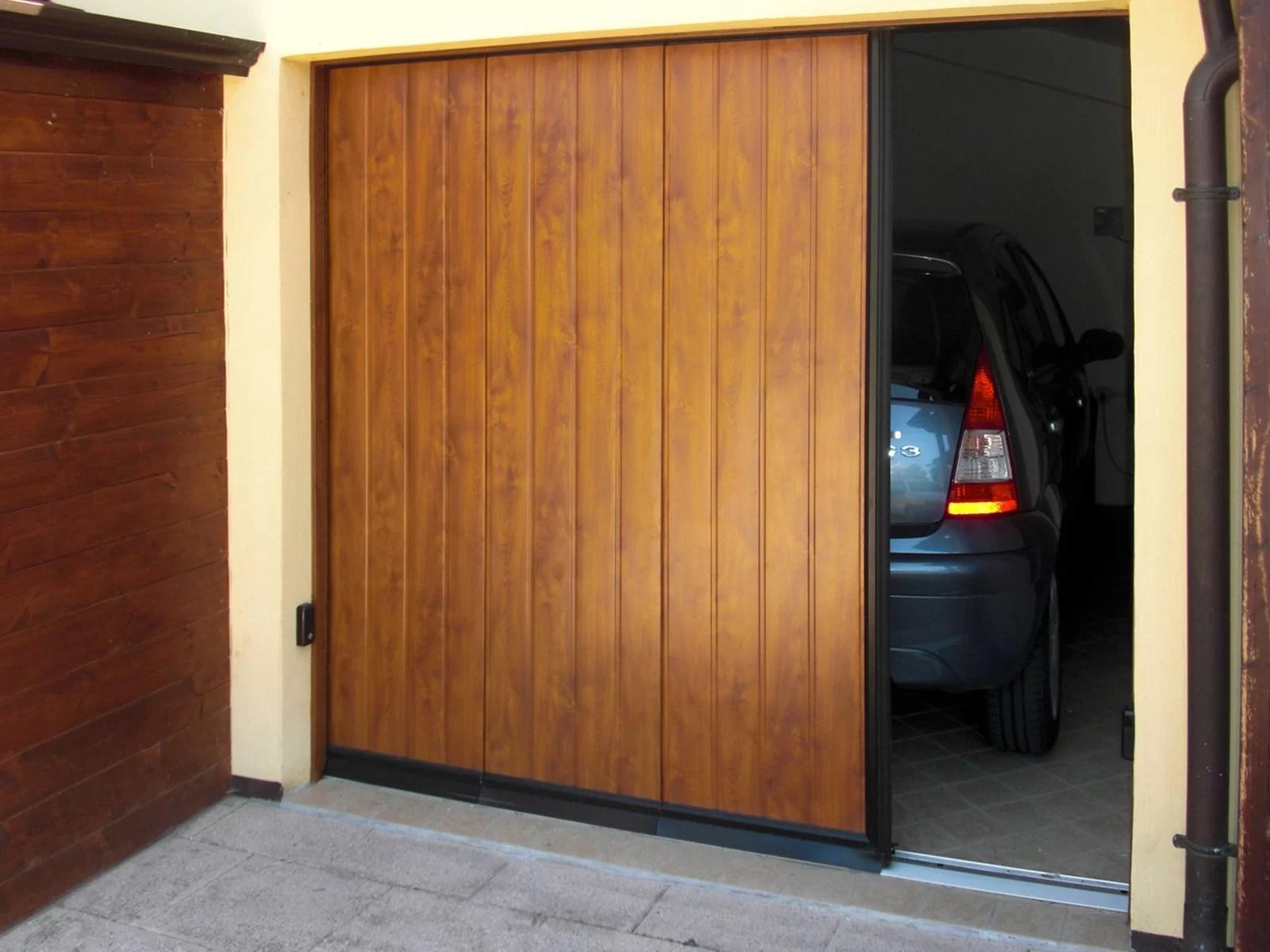 Portone sezionale laterale PHENIX - Simil legno quercia dorata