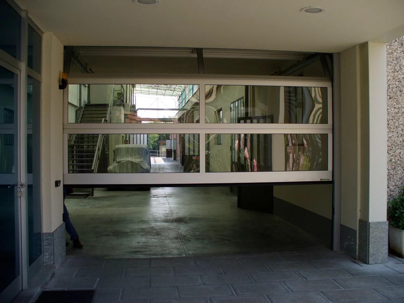 Portone sezionale vetrato LUX - Ossidato naturale