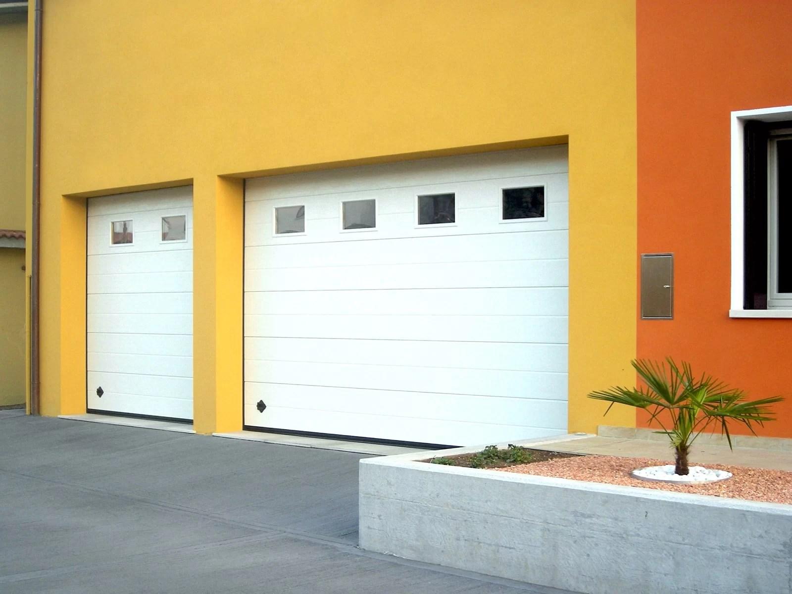 Portone sezionale da garage SIRIO - Woodgrain bianco C21
