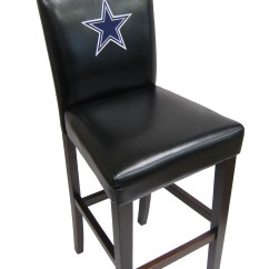 Dallas Cowboys Folding Chairs Brown Leather Chair Modern Officially Licensed Nfl Counter