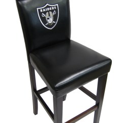 Oakland Raiders Chair Leather Ottoman Swivel Officially Licensed Nfl Pub Chairs