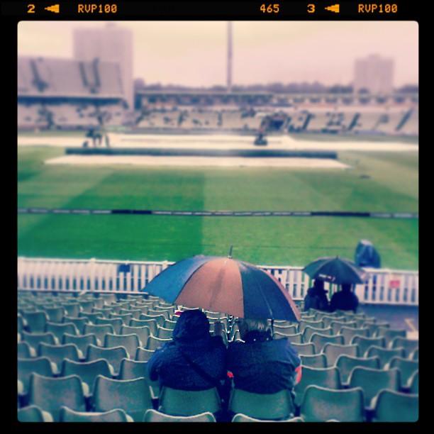 Rain at a cricket match