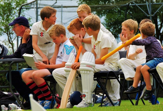 young cricketers' fun day
