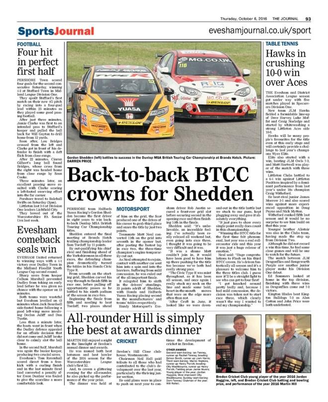 press coverage of bredon cricket club's prize night