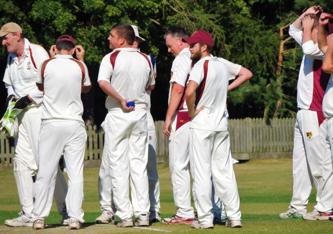 Bredon Cricket Club players' meeting