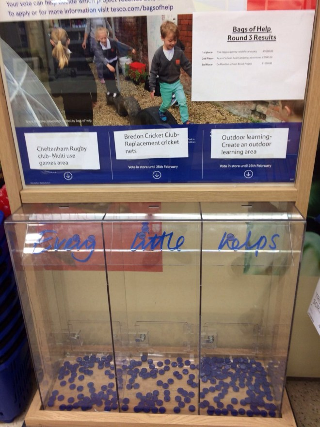 Vote for Bredon in Tesco Bags of Help scheme