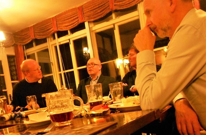 Bredon Cricket Club's committee enjoy their 2017 Christmas dinner at the Fox and Hounds, Bredon