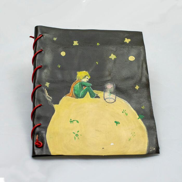 Agenda Breely Story din piele naturala si pictata manual Micul Print. handmade