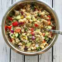 Healthy Vegan Quinoa Salad