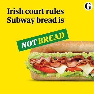 在愛爾蘭法院的判決下,subway的麵包可能不再是麵包