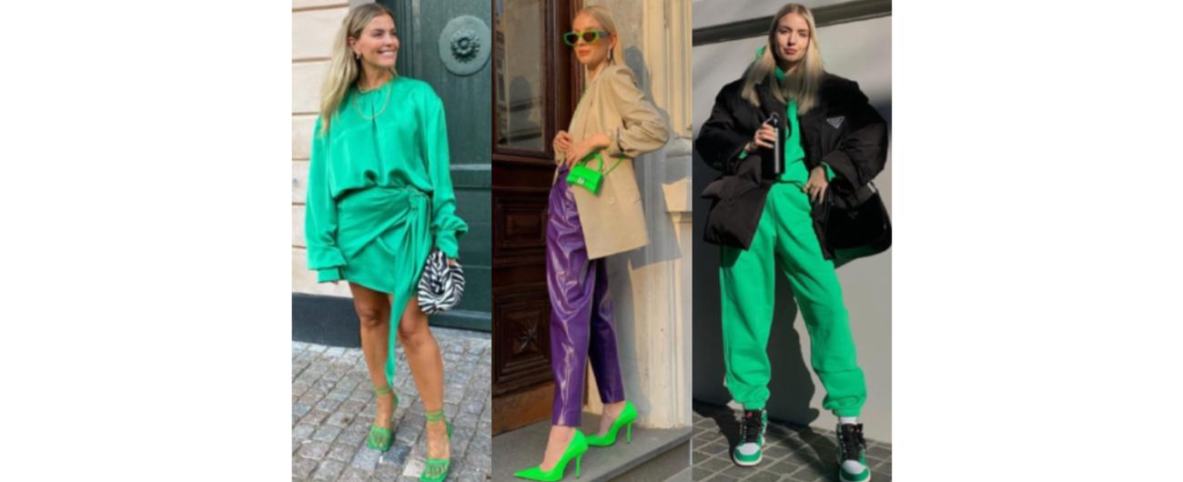 亮綠色穿搭