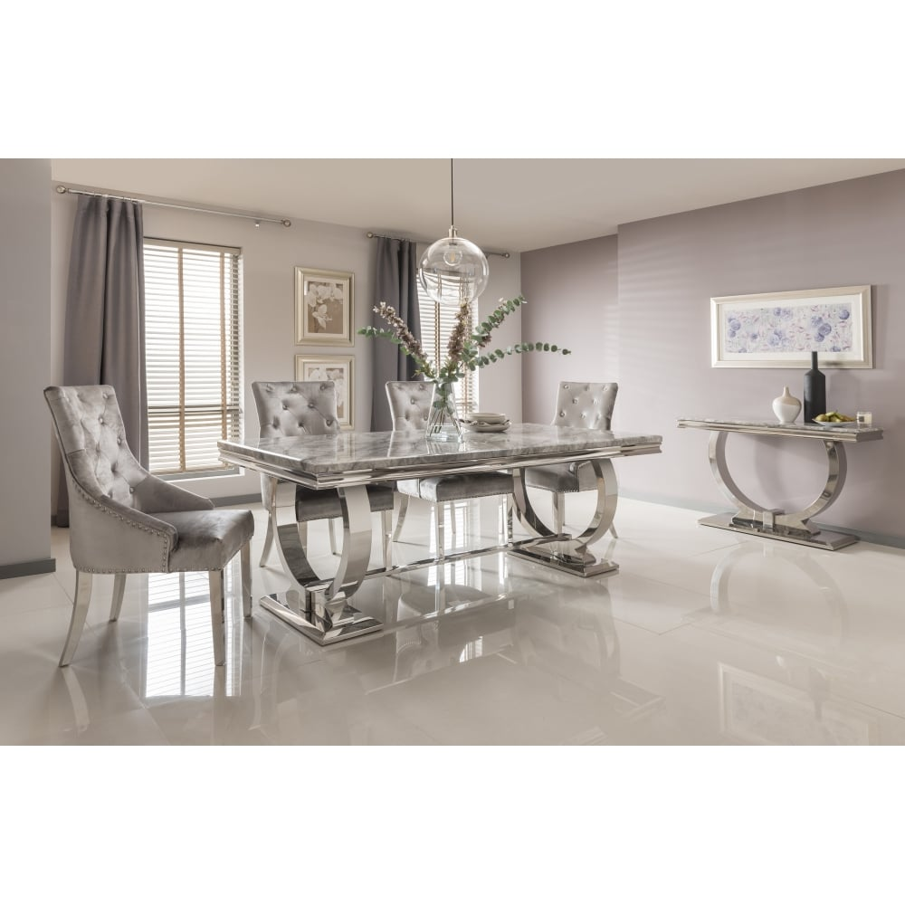 marble living room table sets orange vida arianna dining grey from