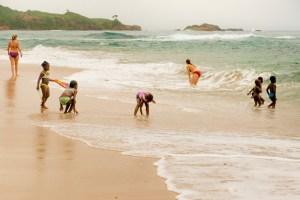 A Dominica east coast beach