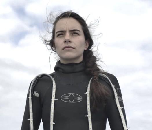 Freediving champion Sofia G. Uribe