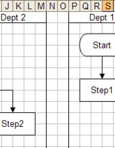 Excel flowchart swim lanes examples also how to create  flow chart in breezetree rh