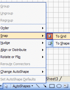 Snap to grid also how create  flow chart in excel breezetree rh