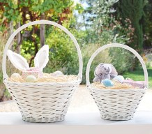 White Sabrina Baskets