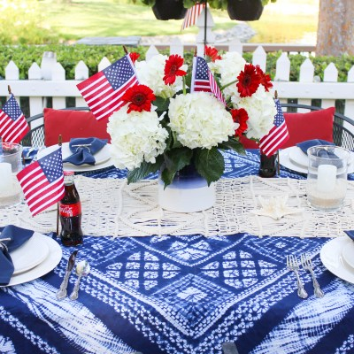 Bohemian 4th of July Tablescape!