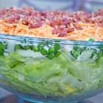 Seven Layer Green Pepper Salad